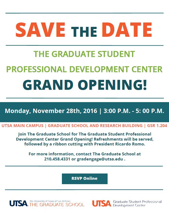 The Graduate Student Professional Development Center Grand Opening